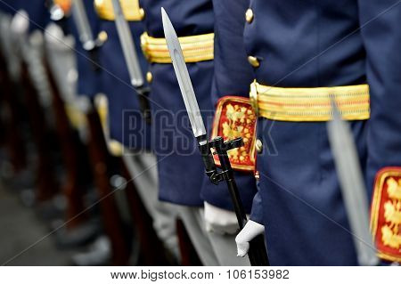 Bayonet Detail In A Guard Of Honor