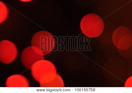 Abstract Circular Bokeh Background At Night