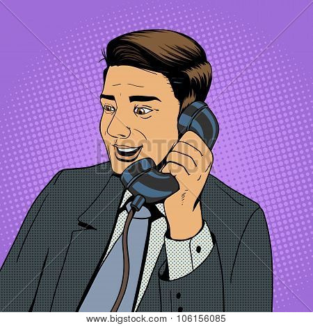 Businessman Talking On The Phone Vector