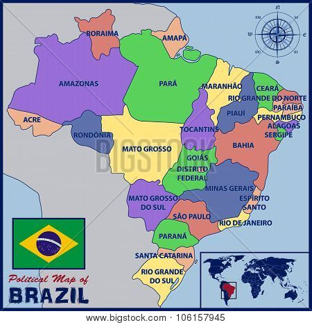 Political Map of Brazil