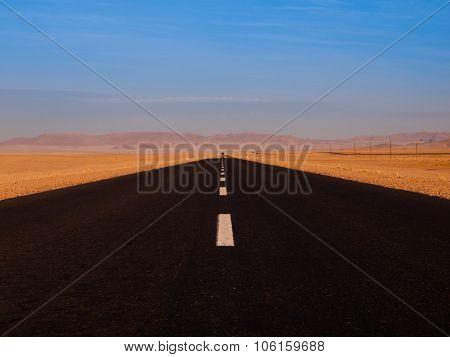 Endless asphalt road