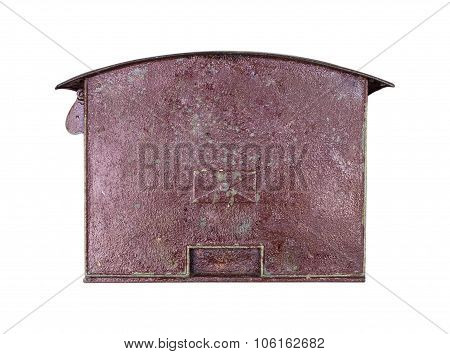mailbox Old rusty Isolated on white background
