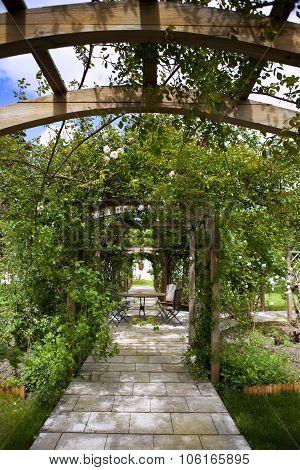 Rose Garden And Pergola