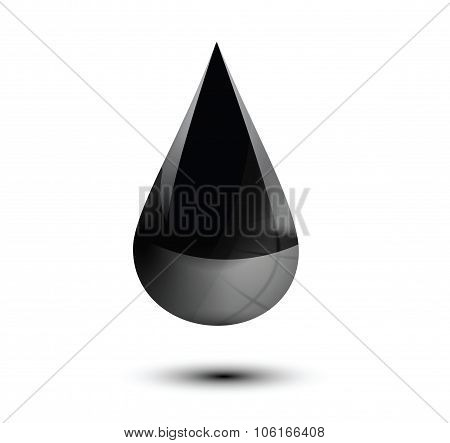 Oil Droplet Isolated On White