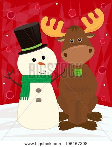 Snowman and Moose