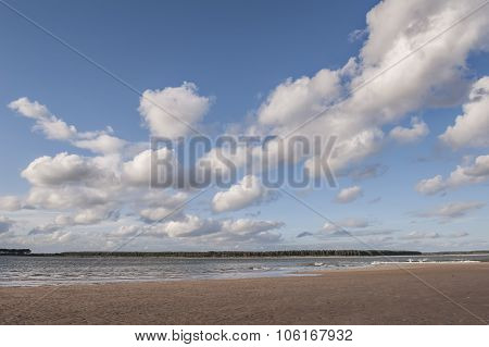 A view across the Tay estuary in Scotland