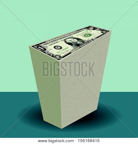 Stack of One dollar Bills