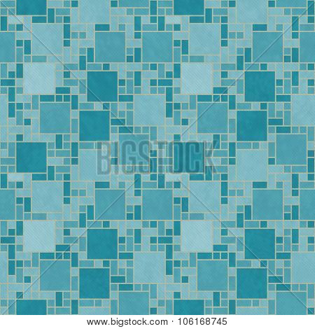 Teal And Yellow Square Mosaic Abstract Geometric Design Tile Pattern Repeat Background