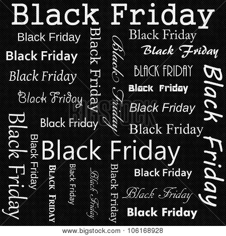 Black And White Black Friday Design Tile Pattern Repeat Background