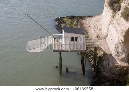 Fisherman's Wooden Hut By The Sea In The South West Of France, Near Royan And Meschers-sur-gironde