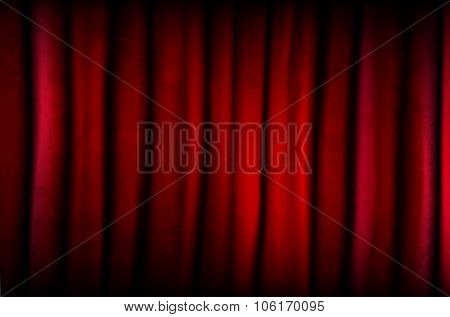 Red Curtain With Texture