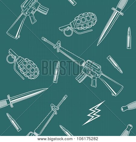 Special Forces Seamless Pattern