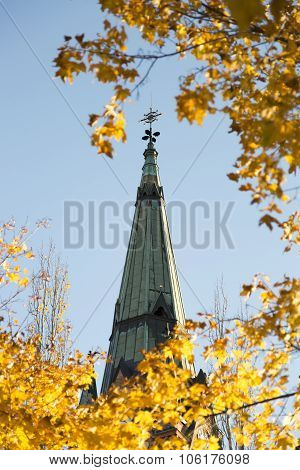 Church Steeple In Umeå, Sweden