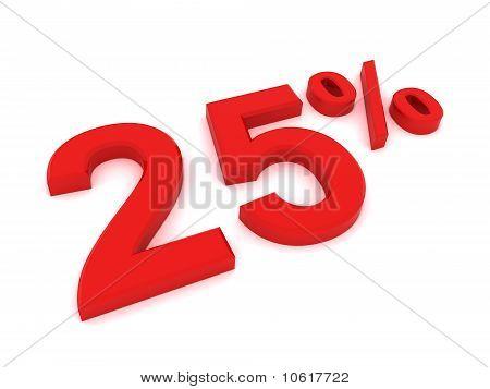 25 por ciento