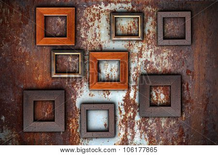 Picture Frames On Abstract Surface