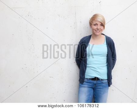 Portrait of an attractive teenage girl