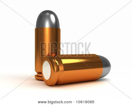 Two Bullets Isolated On White