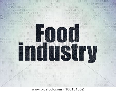 Manufacuring concept: Food Industry on Digital Paper background