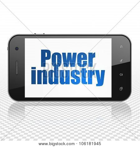 Industry concept: Smartphone with Power Industry on display