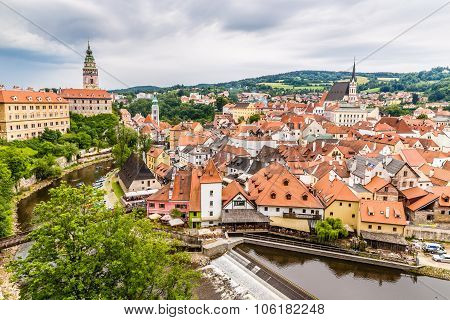 View Of City Centre- Cesky Krumlov, Czech Republic