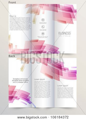 Front and back page presentation of creative Business Trifold, Flyer, Banner or Template.