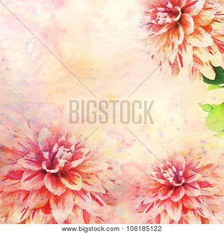 Watercolor Illustration Of Floral Theme