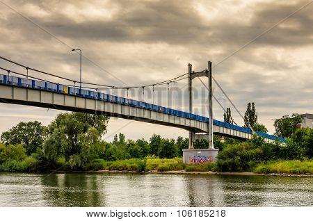 Wroclaw.PL. 2015,07,27- Bridge at Odra river in Wroclaw