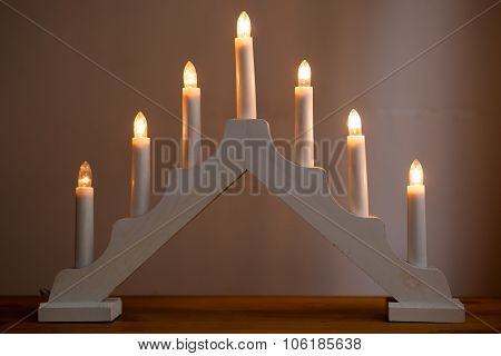 Candlestick Christmas Decoration