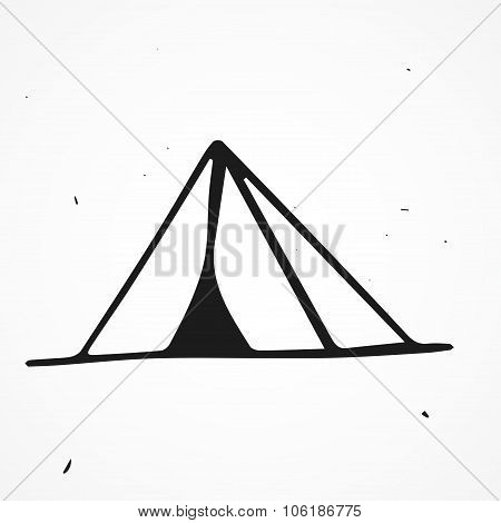 Hand Drawn Tent, Isolated