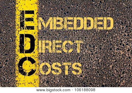 Business Acronym Edc As Embedded Direct Costs