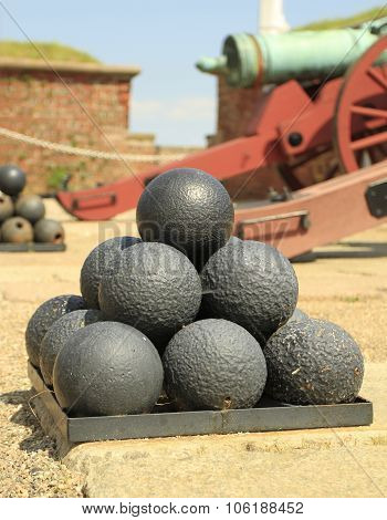 Stacked cannonballs