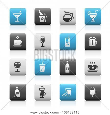 Drinks Icons // Matte Series