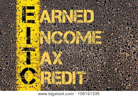 Business Acronym Eitc As Earned Income Tax Credit