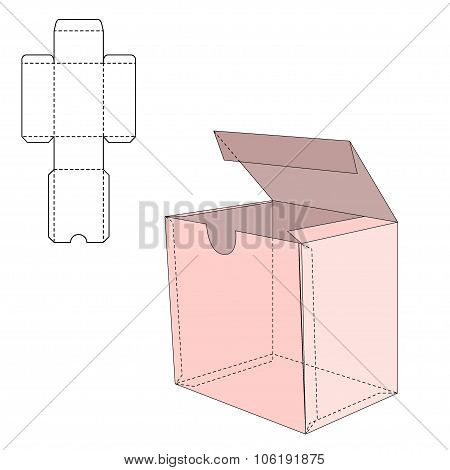 Box Die Line Template