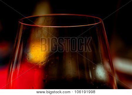 Wine Glass In Dim Light