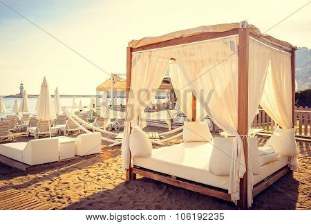 Romantic relax on the beach  beds