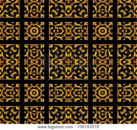 Geometric Check Arabesque Pattern