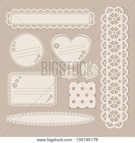 Scrapbook set with different elements - scrapbook paper