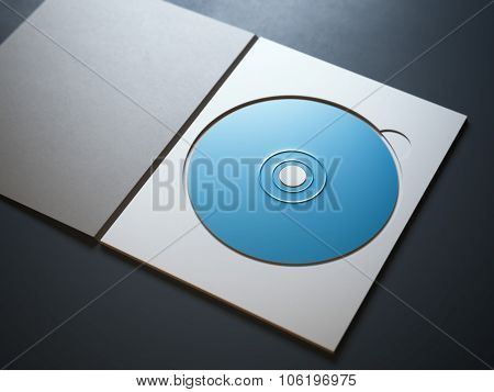 Opened package with blue ray disc