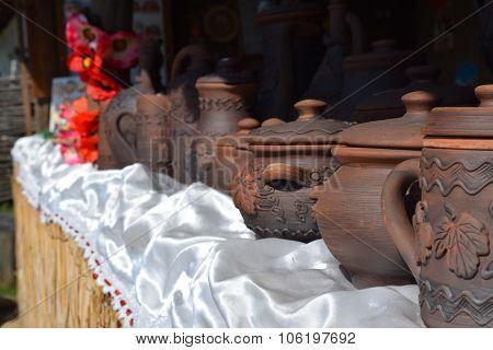 Brown Clay Pots