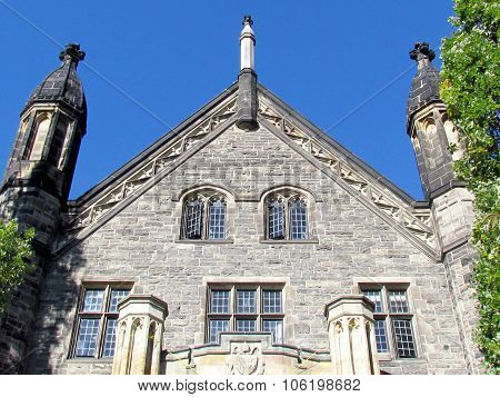 Toronto University Trinity College Pediment 2015