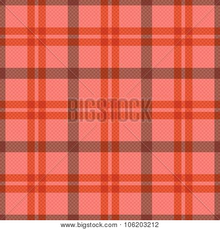 Seamless Tartan Rectangular Pattern In Pink And Red