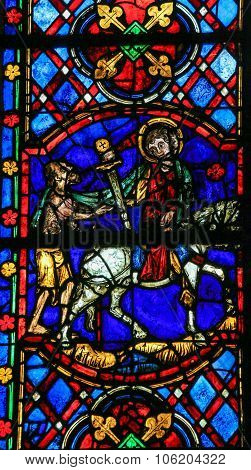 Saint Martin - Stained Glass In Tours Cathedral