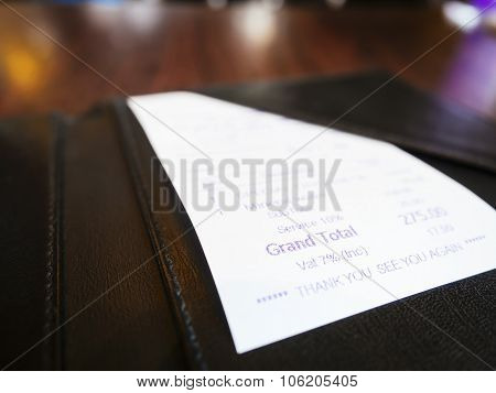 Receipt In Folder Business Shopping Bill Payment