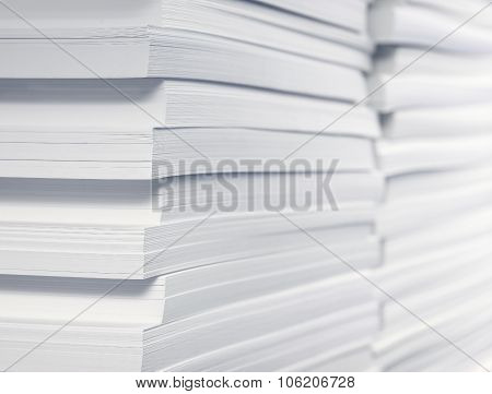 Stack Of Blank Paper