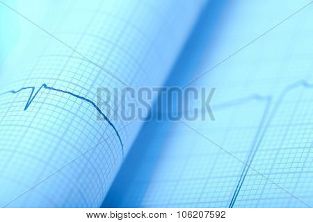 Macro Of Paper Ecg Print