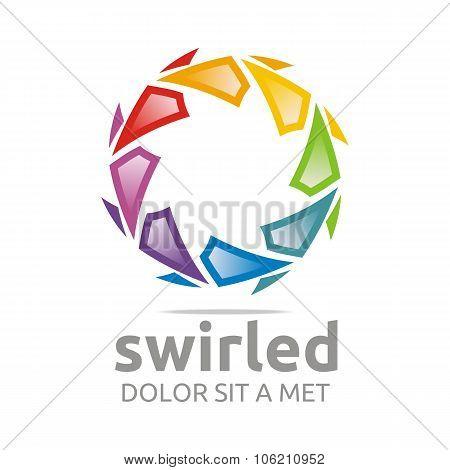 Swirled Logo