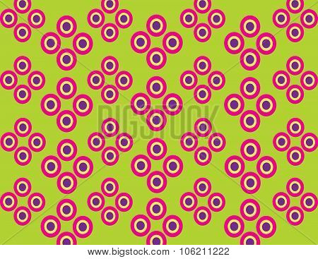 Fuchsia pattern of concentric circles