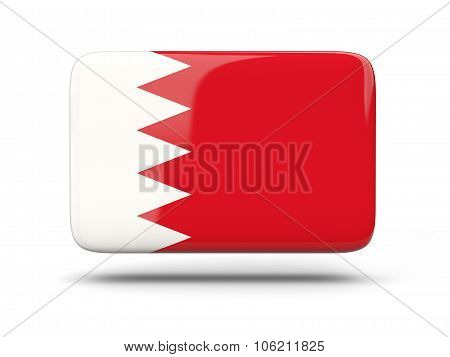 Square Icon With Flag Of Bahrain
