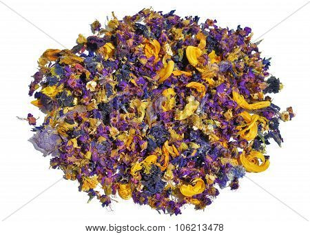 Pile With Dried Flowers